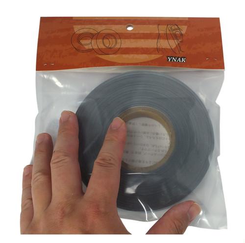 YNAK テント ザック タープ シート レインウェアー 補修 メンテナンス 用 強力 トリコット 表面布状 アイロン式 3レイヤー適合 説明書付き シームテープ 幅20mm×長さ30m (グレー) (ブラック)